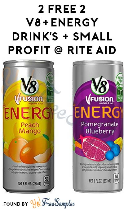 Back Again: 2 FREE V8+Energy Drink's + Small Profit At Rite Aid (Coupon & MobiSave Required)