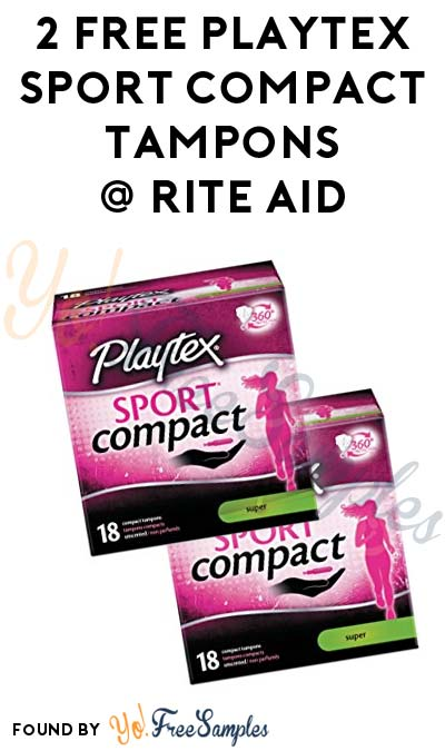 2 FREE Playtex Sport Compact Tampons At Rite Aid (Coupon Required)