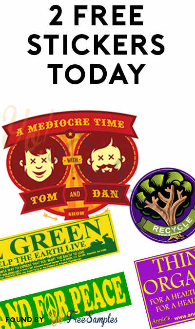 2 FREE Stickers Today: Tom & Dan Car Magnet/Sticker & Annie's Organic/Green/Peace/Recycle Stickers
