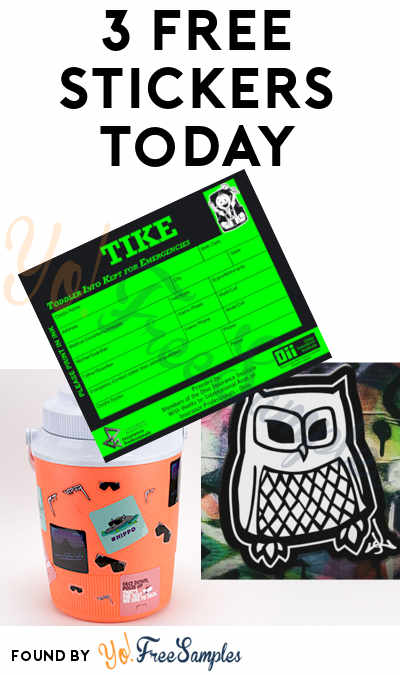 3 FREE Stickers Today: Anotha Level Owl Stickers, Pit Viper Sunglasses Stickers & Toddler Info Kept For Emergencies Sticker