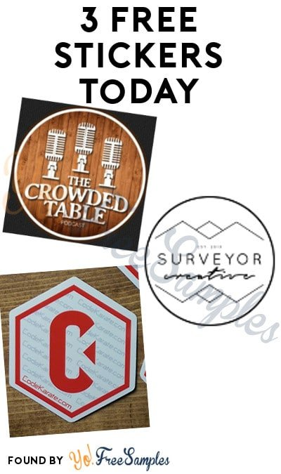 3 FREE Stickers Today: The Crowded Table Sticker, Surveyor Creative Sticker & Code Karate Stickers