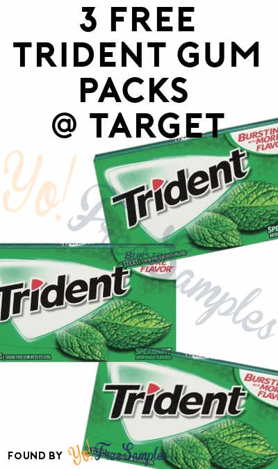 3 FREE Trident Gum Packs At Target (Cartwheel & Coupon Required)