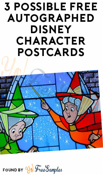 3 Possible FREE Autographed Disney Character Postcards (Snail Mail Required)