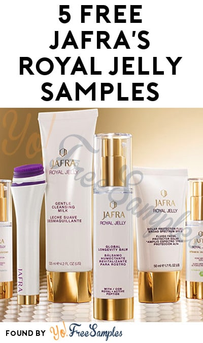 FREE JAFRA's Royal Jelly Cleansing Milk, Longevity Creme, Eye Cream, Spot Serum & Solar Protection Fluid Samples From CrowdTap (Mission Required)