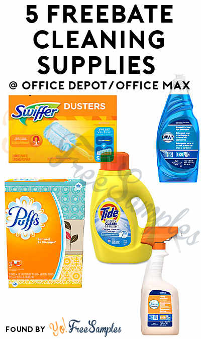 5 FREEBATE Cleaning Supplies From Office Depot/Office Max (After Rebate)