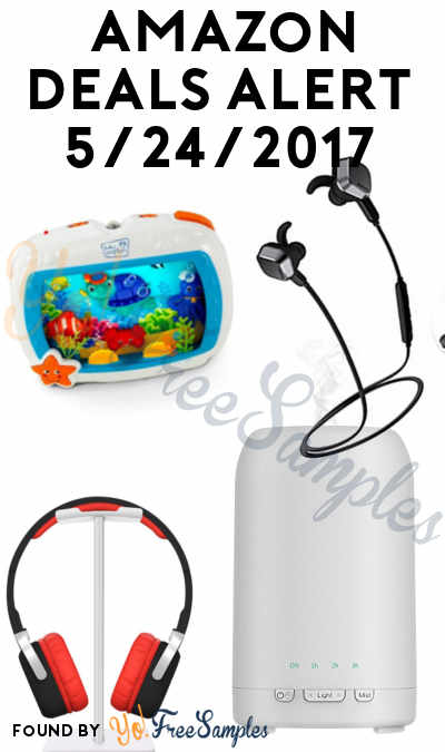 DEALS ALERT: Essential Oil Diffuser, Baby Einstein Sea Dreams Soother, Magnetic Bluetooth Headphones & Headset Stand For Amazon 5/24/2017