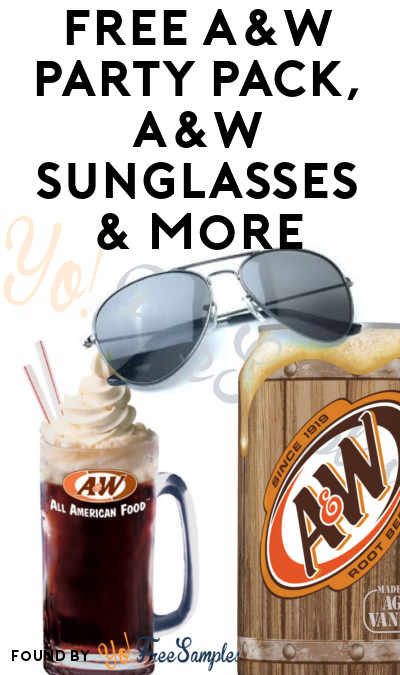 FREE A&W Party Pack, A&W Sunglasses & More (Apply To HouseParty.com)