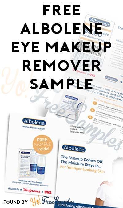 FREE Albolene Eye Makeup Remover Sample [Verified Received By Mail]