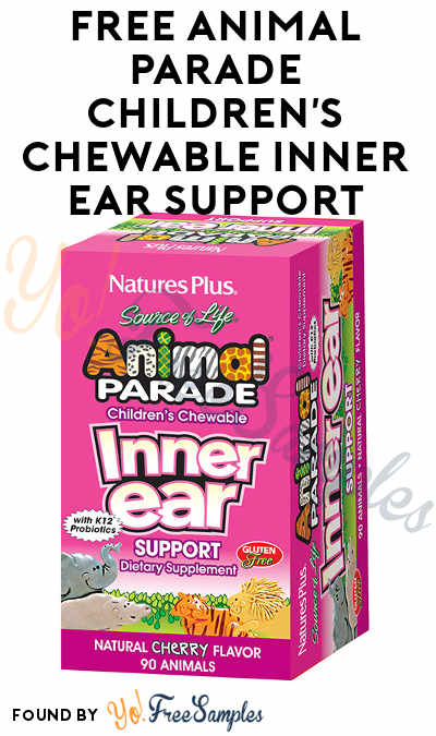 FREE Animal Parade Children's Chewable Inner Ear Support Sample From Nature's Plus