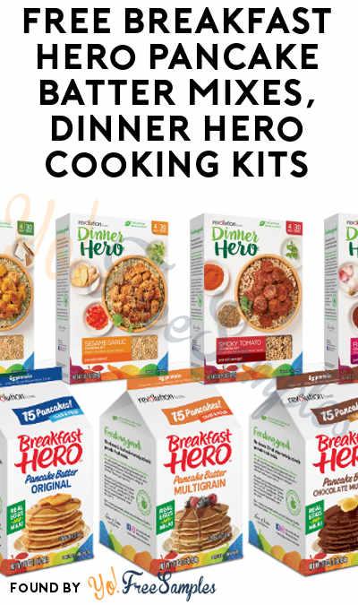 FREE Breakfast Hero Pancake Batter Mixes, Dinner Hero Cooking Kits & More (Must Apply To Host Tryazon Party)