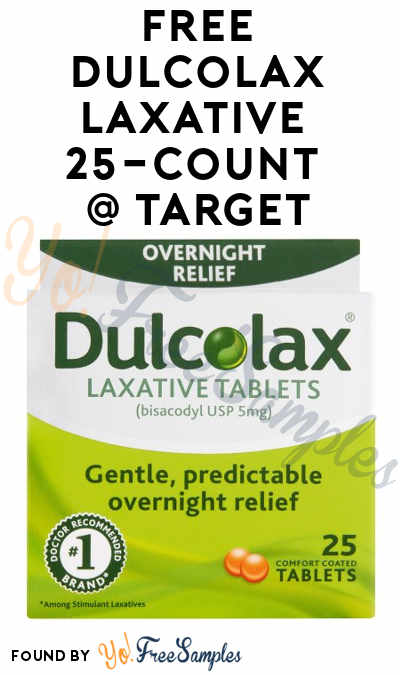 FREE Dulcolax Laxative 25-Count + Small Profit At Target (Coupon, Checkout51 & Cartwheel Required)