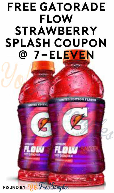 TODAY (5/7) ONLY: FREE Gatorade Flow Strawberry Splash Coupon In Your 7-Eleven App