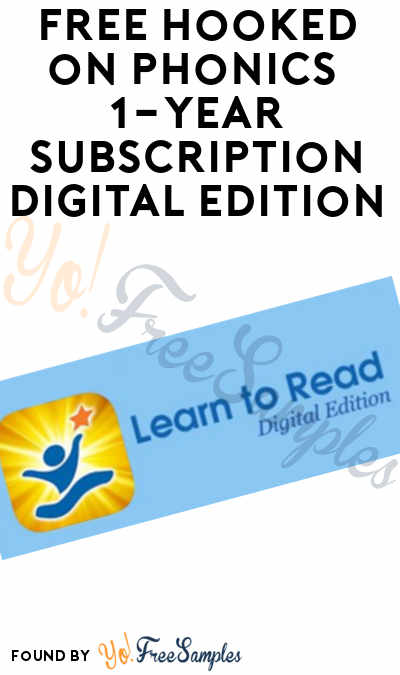FREE Hooked on Phonics 1-Year Subscription Digital Edition For Teachers Only