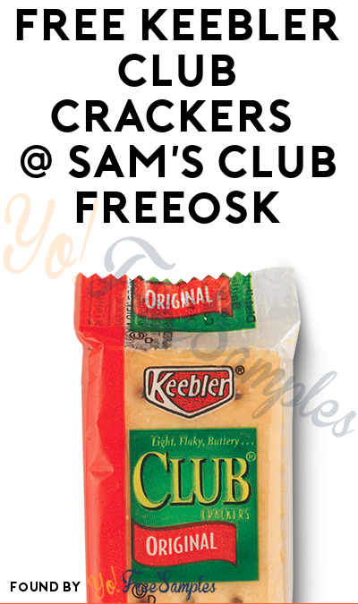 FREE Keebler Club Crackers  Sample At Sam's Club Freeosk