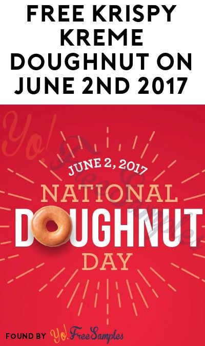 FREE Krispy Kreme Doughnut On June 1st