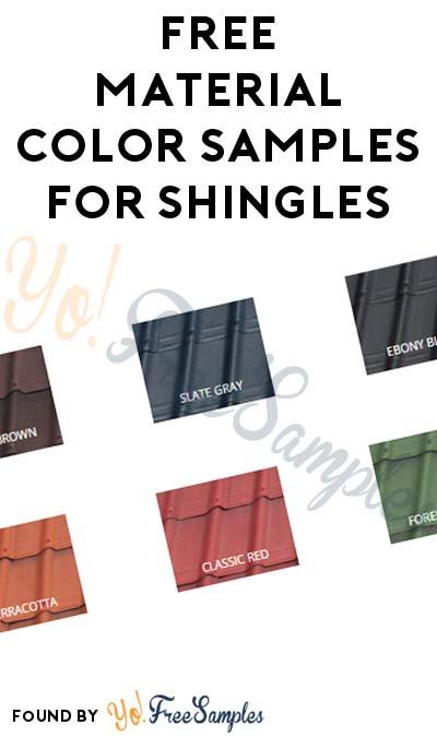 FREE Material Sample Set For Shingles