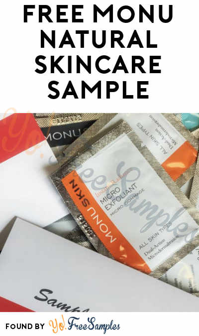 FREE Monu Natural Skincare Sample (Facebook Required)