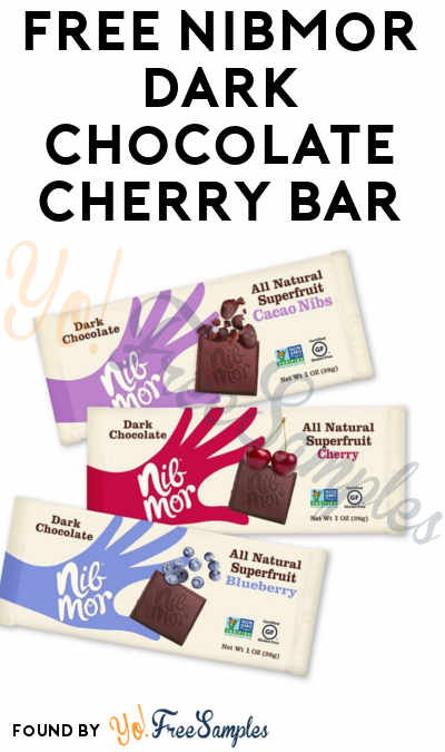 FREE NibMor Dark Chocolate Cherry Bar At Stop & Shop + Giant Stores (Account Required)