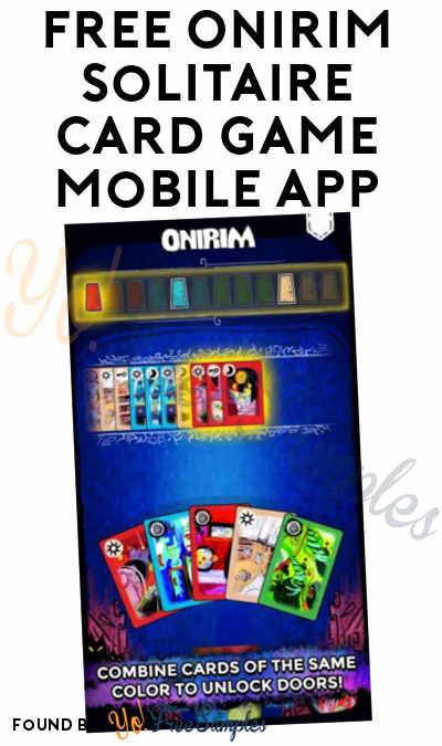 FREE Onirim Solitaire Card Game Mobile App For iOS & Android ($0.99 Normally)