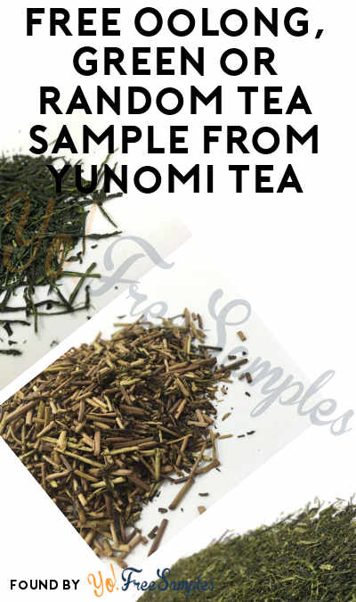 "FREE Oolong, Green or Random Tea Sample From Yunomi Tea Using Code ""1111"""