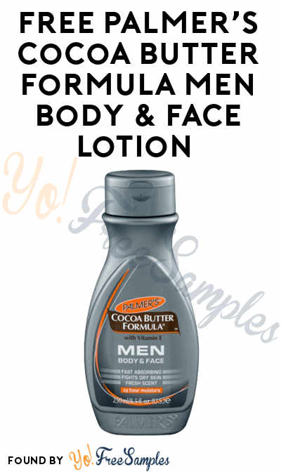 FREE Palmer's Cocoa Butter Formula MEN Body & Face Lotion From Digitry (Survey Required)