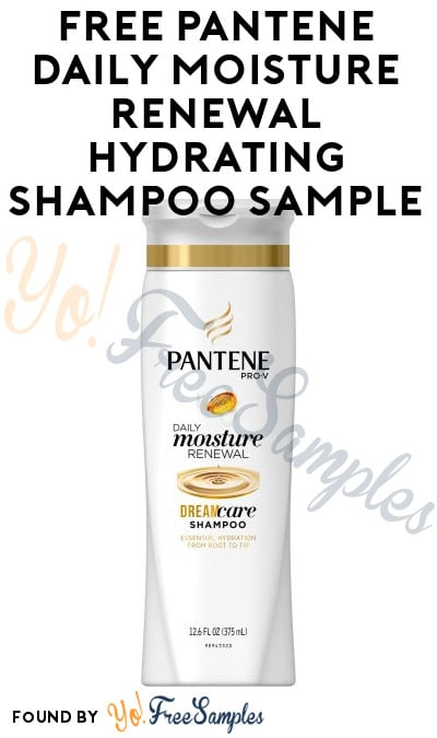 FREE Pantene Pro-V Daily Moisture Renewal Hydrating Shampoo Sample From Allure