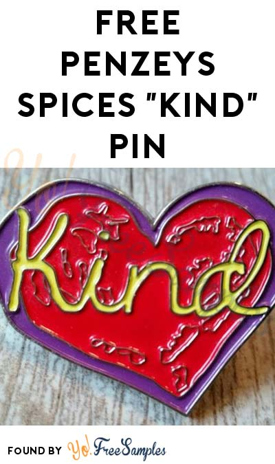 "FREE Penzeys Spices ""Kind"" Pin [Verified Received By Mail]"