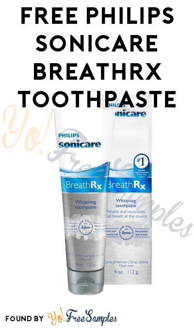 Back In Stock If You Have Voucher Already: FREE Philips Sonicare BreathRX Whitening Toothpaste Voucher (Facebook Required) [Verified Received By Mail]