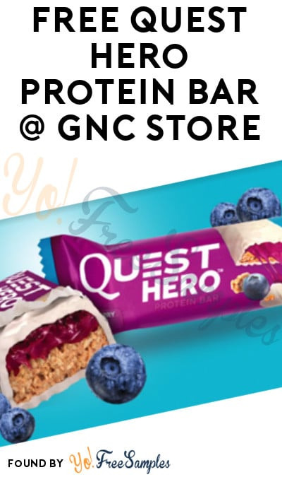 TODAY (5/23) ONLY: FREE Quest Hero Protein Bar At GNC (In-Store)