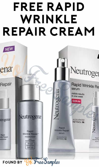 FREE Neutrogena Rapid Wrinkle Repair Cream From Home Tester Club (Survey Required)