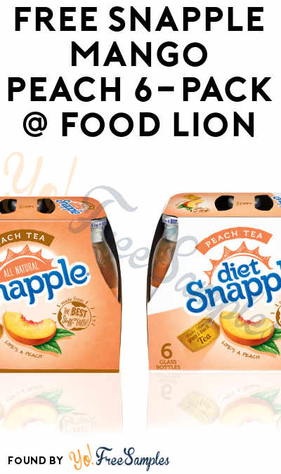 FREE Snapple Mango Peach 6-Pack Coupon (Food Lion MVP Members)
