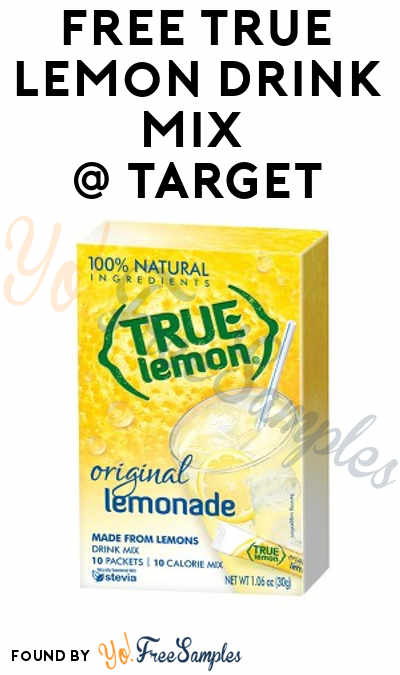 FREE True Lemon Drink Mix At Target (Coupon & Cartwheel Required)