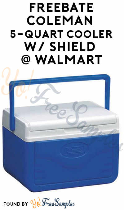 ENDS TODAY: FREEBATE Coleman 5-Quart Cooler w/ Shield At Walmart After In-Store Pick Up & Cashback (New TopCashBack Members Only)