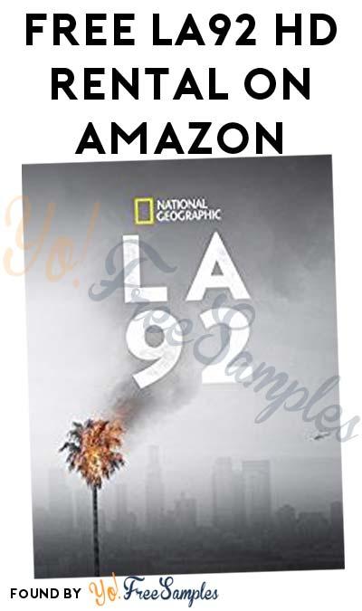 VUDU Link Added: FREE National Geographic's LA '92 HD Rental On Amazon & VUDU