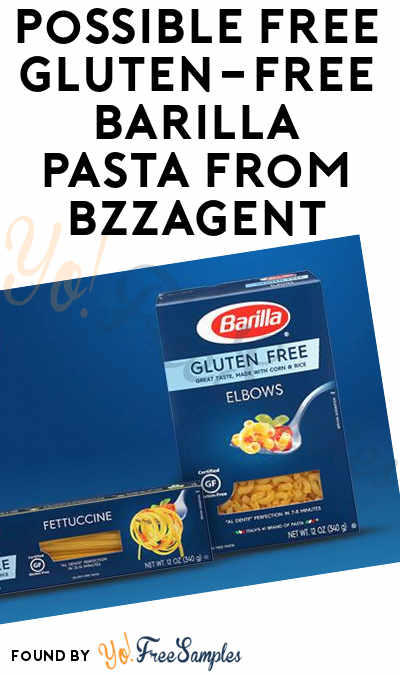 Possible FREE Gluten-Free Barilla Pasta from BzzAgent