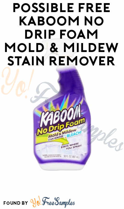 Possible FREE KABOOM No Drip Foam Mold & Mildew Stain Remover (Smiley360)