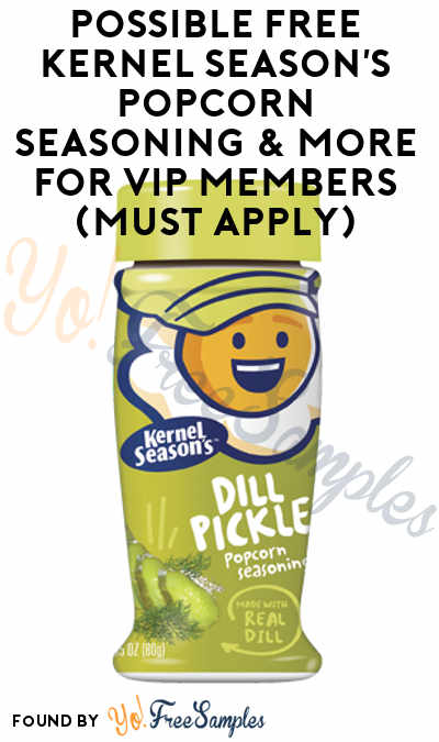 Possible FREE Kernel Season's Popcorn Seasoning & More For VIP Members (Must Apply)