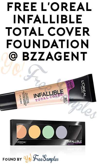 Possible FREE L'Oreal Infallible Total Cover Foundation from BzzAgent