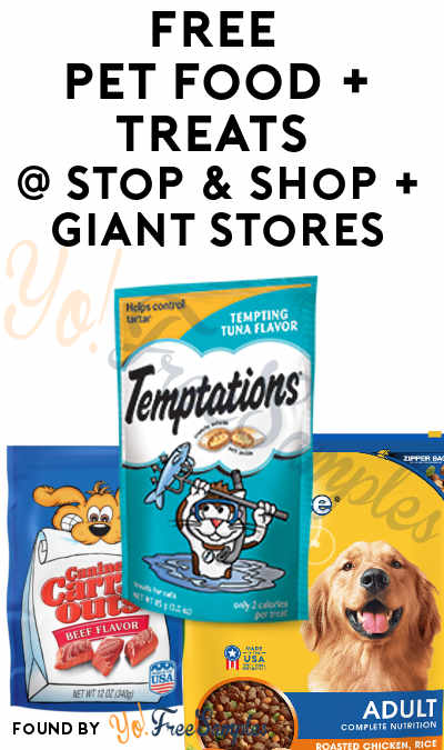 FREE Canine Carry Outs, Temptations Cat Treats & Pedigree Dog Food At Stop & Shop + Giant Stores (Account Required)