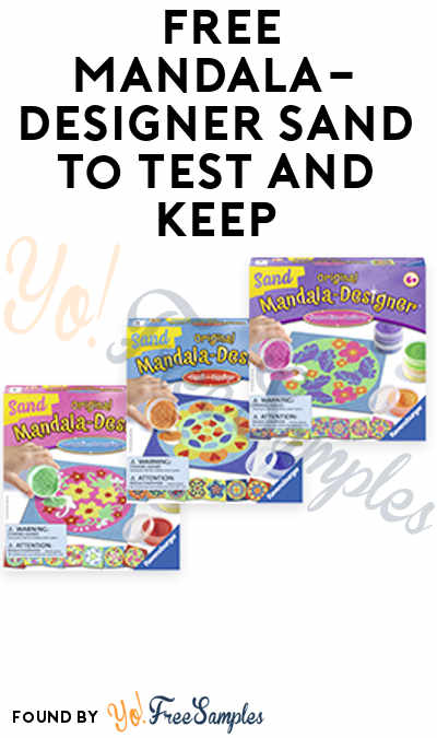 Toy Testing Is Back! FREE Mandala-Designer Sand + Other Games, Puzzles & Crafts For Testing (Must Apply)