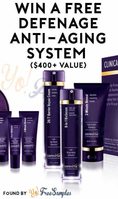 Win A FREE DefenAge Anti-Aging System ($400+ Value)
