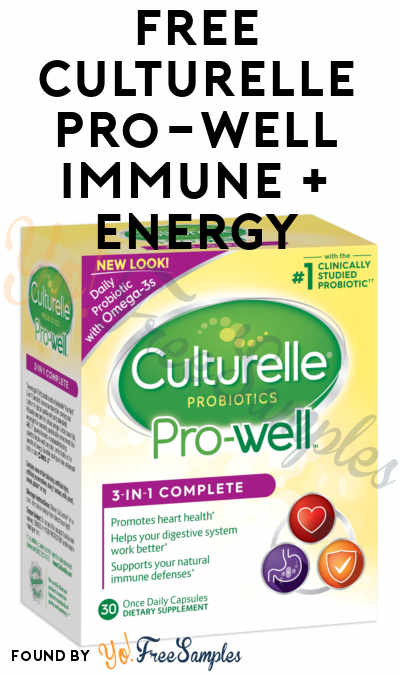 FREE Culturelle Pro-well Immune + Energy