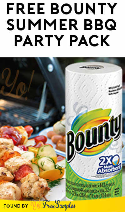 FREE Bounty Summer BBQ Party Pack (IL, IN, KY, MI, OH & WI Only)