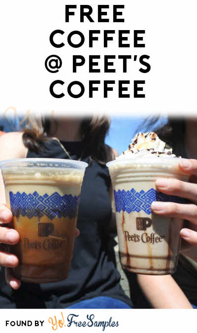 FREE Beverage Of Any Type or Size From Peet's 5/12 From 1-3PM