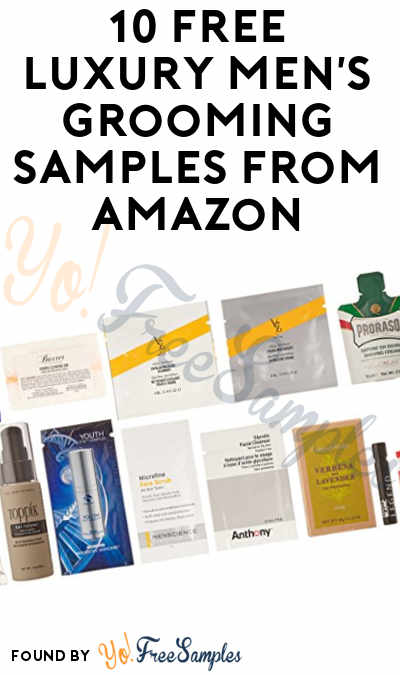 10 FREE Luxury Men's Grooming Samples From Amazon Sample Box After Rebate For Amazon Prime Members [Verified Received By Mail]
