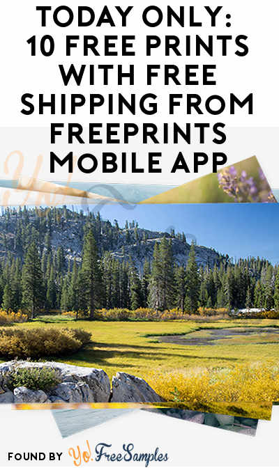 10 FREE 4×6 Prints With Free Shipping From FreePrints Mobile App
