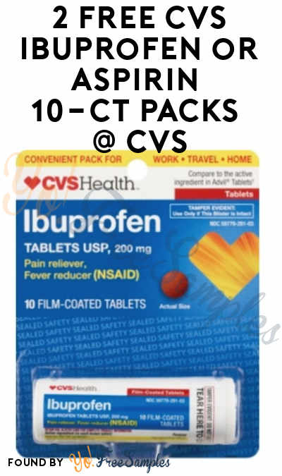 2 FREE CVS Ibuprofen or Aspirin 10-Count Packs At CVS (ExtraCare Card Required)