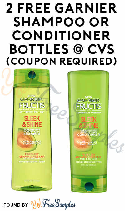 2 FREE Garnier Shampoo or Conditioner Bottles At CVS (Coupon Required)