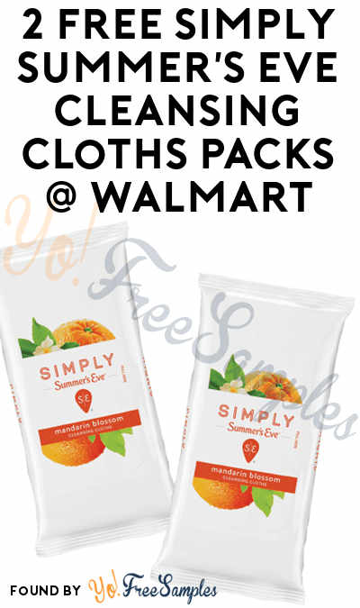 2 FREE Simply Summer's Eve Cleansing Cloths Packs At Walmart (Ibotta & Coupon Required)