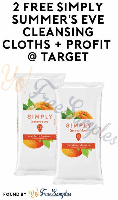 2 FREE Simply Summer's Eve Cleansing Cloths + Profit From Target (Cartwheel, Ibotta & Coupon Required)